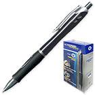 Ручка шариковая черная масляная автоматическая Expert Complete Target 0.5 мм Корпус черный с грипом
